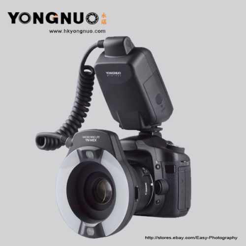 Yongnuo YN-14EX TTL Macro Ring Lite Flash Speedlite Light for Canon 5Ds 5Dsr 760D 5D Mark III 6D 7D 60D 70D 700D 650D 600D 3pcs yongnuo yn600ex rt auto ttl hss flash speedlite yn e3 rt controller for canon 5d3 5d2 7d mark ii 6d 70d 60d