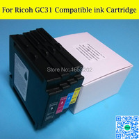 Free Shipping GC31 Compatible Ink Cartridge For Ricoh GXE3300 GXE5500 GXE2600 GXE5050N GXE5550N Printer With ARC