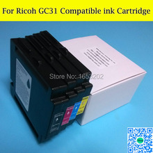 цена Free shipping!!! GC31 Compatible ink cartridge for Ricoh GXE3300/GXE5500/GXE2600/GXE5050N/GXE5550N printer with  ARC chip