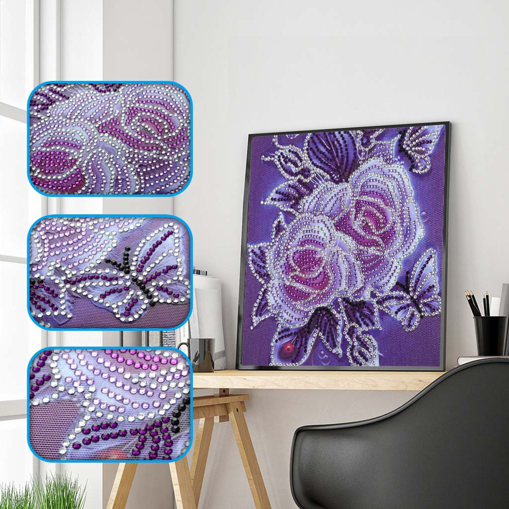 5d diy diamond painting full drill special shaped diamond embroidery flowers