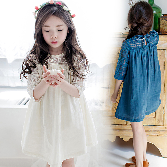 2016 Summer Baby Girl Dress Korean Girl Princess Lace Dress Kids Girls Clothings Children Clothes Fairy Dress