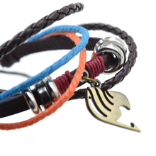 Fairy Tail Attack on Titan Naruto PU Leather Bracelet