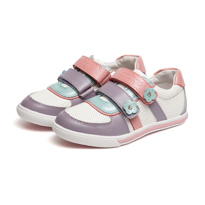FLAMINGO Breathable Hook& Loop Patchwork Orthotic Arch Support Spring& Summer Outdoor Size 27-32 Casual Shoes for Boy 61-XP130 stainlizard casual sutends shoes female low top women shoes breathable summer shoes woman sneakers fashion comfortable bt1018