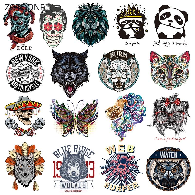 ZOTOONE Listras Roupas Conjunto de Patches Ferro em Transferência Remendo Do Punk para T-shirts Menina Roupas Garoto Thermo DIY Adesivos em Roupas EU