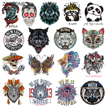 ZOTOONE Stripes Clothes Patches Set Iron on Transfer Punk Patch for T-shirts Girl Kid Clothing DIY Thermo Stickers I