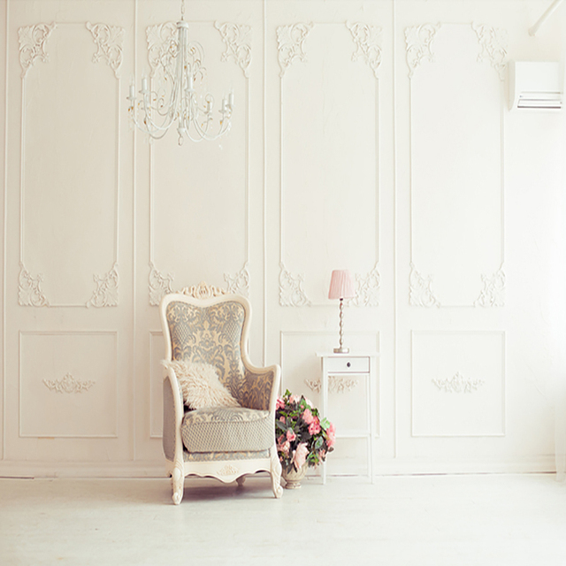 Wedding White Background: Wedding Backdrops White Wall Chair Backdrop Pink Flowers