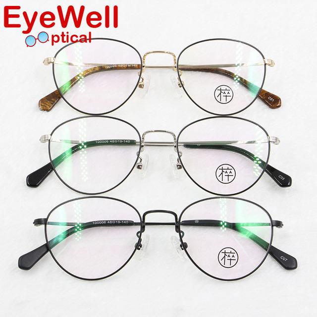 Miopia Frame Ótico do vintage Dos Homens/mulheres Rodada Óculos de Armação Unisex Retro Clássico de Alta Qualidade 100006