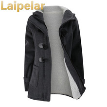 Women's Fashion Cotton Coat Autumn Thick Lining Winter Jacket Overcoat Female Casual Long Hooded Coat Zipper Horn Button Outwear цена 2017