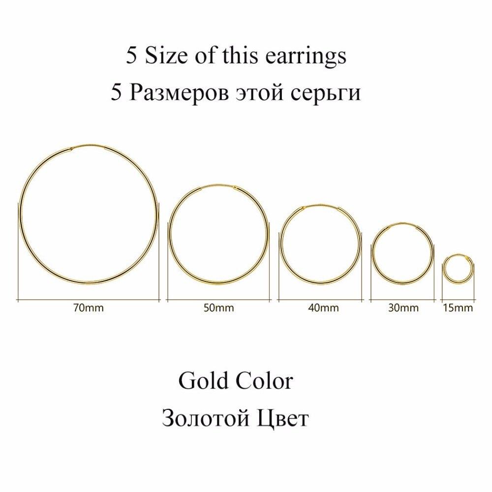Արծաթագույն ոսկե գույնի կլոր - Նուրբ զարդեր - Լուսանկար 4