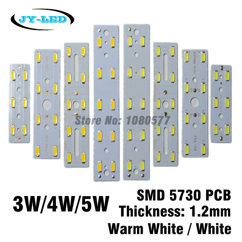 10pcs/lot 3W 4W 5W LED 5730 SMD Short Rectangle Aluminum Base Plate For Crystal Lamp Lighting 10pcs led aluminum plate 40mm for 5w 5730 smd heat sink