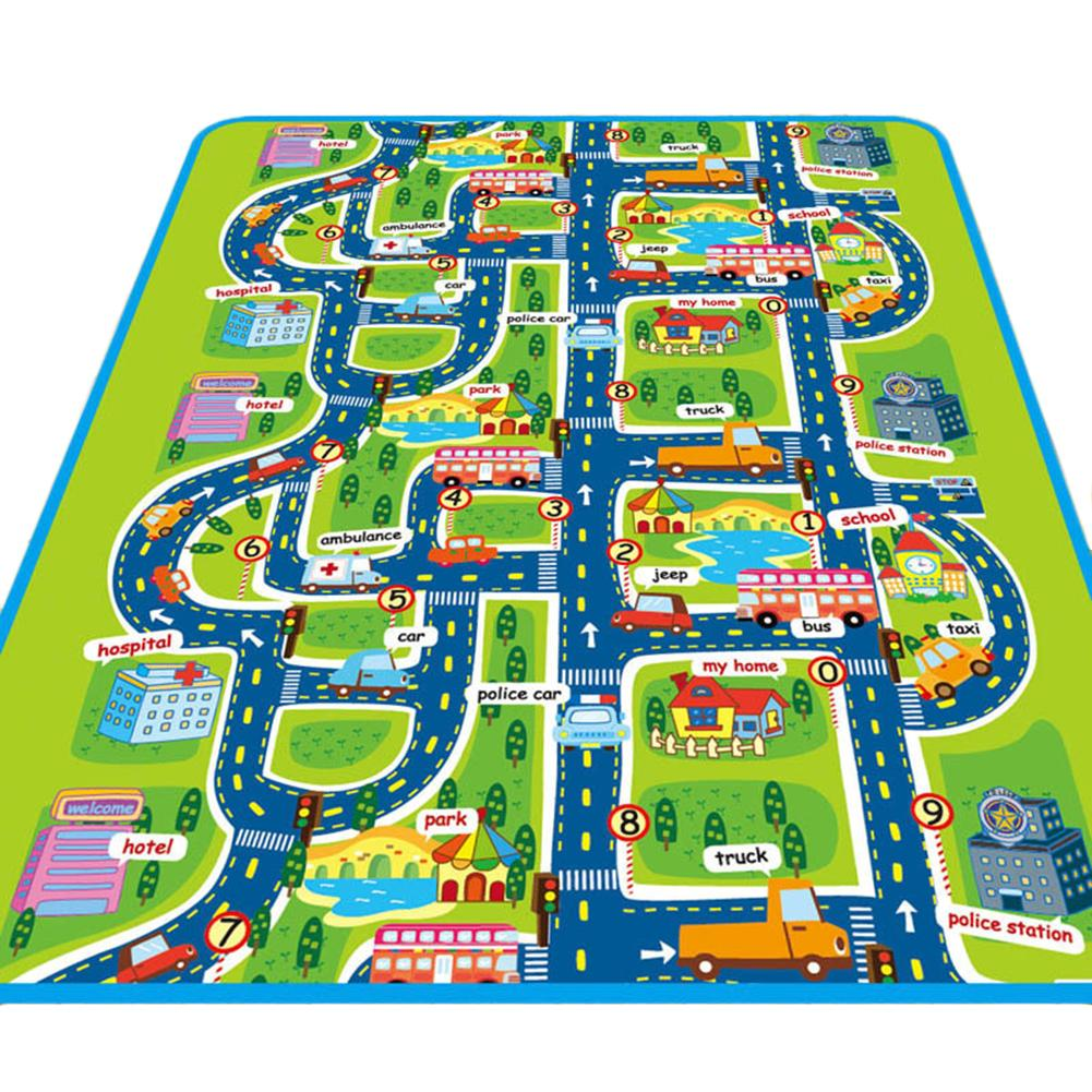 160*130CM Kids Carpet Crawling Rug Children Educational Road Traffic Play Mat For Children Developing Rug Carpet Puzzle Toys