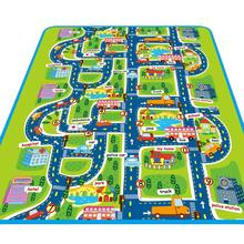 160*130CM Kids Carpet Crawling Rug Children Educational Road Traffic Play Mat For Developing Puzzle Toys