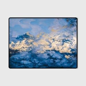 Image 4 - Nordique INS abstrait bleu côte tapis salon chambre chevet entrée ascenseur tapis de sol canapé table basse tapis antidérapant