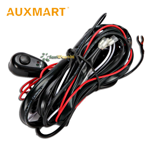 Auxmart 200/250cm LED Light Offroad Harness Wire Relay Kit Fog Lamp ...