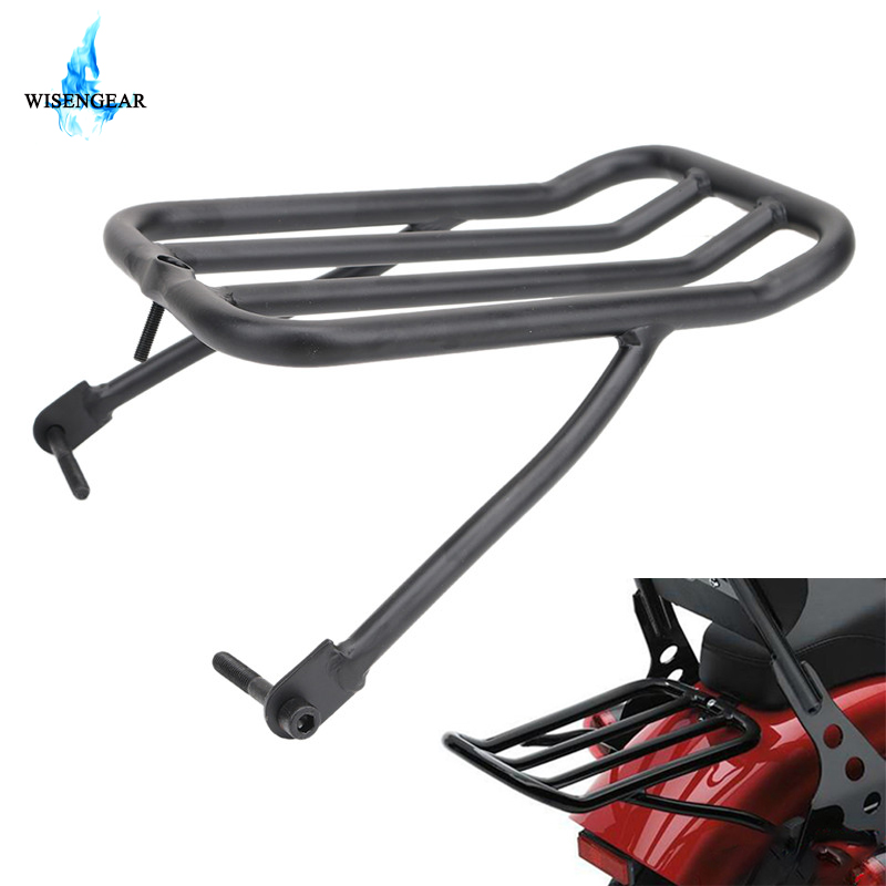 WISENGEAR For Harley Luggage Rack Sportster XL 1200 883 XLH883 XLH1200 Motorcycle Sissy Bar Backrest Luggage