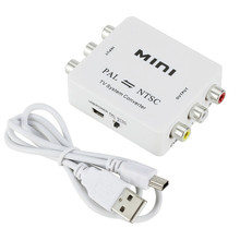 Mini PAL to NTSC SECAM or Converter Bi-directional Dual-Way Adapter TV Video System Switcher Connection