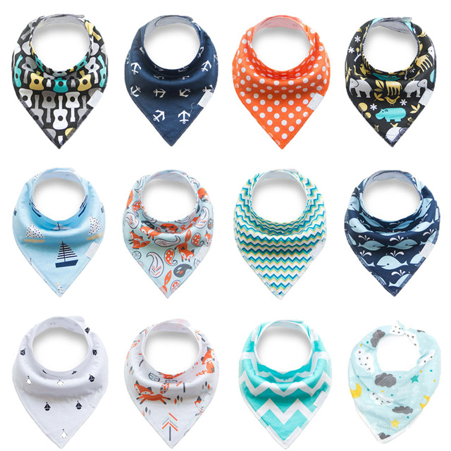 Insular 20 Styles Baby Bibs Waterproof Neckerchief Baby Triangle Bibs Cotton Bandana Newborn Feeding Accessories Baberos Bebes