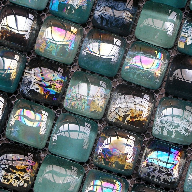 black sea pearl bead crystal glass mosaic tiles for bathroom home improvement kitchen backsplash HMGM1056