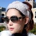 1 unidades envío gratis 2016 la nueva versión de corea del sur moda gorras de punto sombreros mujeres de primavera cálida franja espiral banda para el cabello