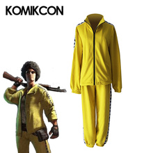 цены Game PUBG Playerunknown's Battlegrounds Cosplay Costume Yellow Coat Pants Full Sets Halloween Christmas Sport Suit For Men Women
