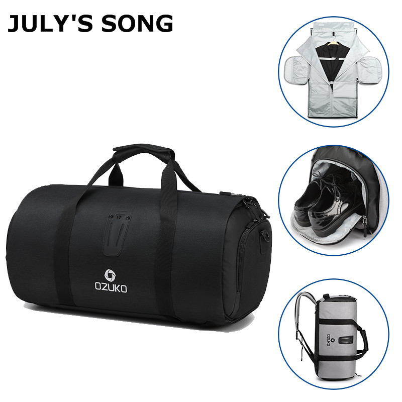 JULY'S SONG Large Capacity Travel Bag Multifunction Men Duffle Bag For Trip Suit Shoe Pouch Waterproof Storage Hand Luggage Bags