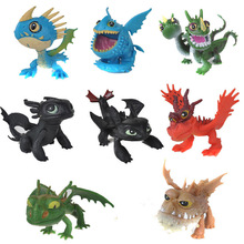 8pcs set How To Train Your Dragon Juguetes Night Fury Toothless Dragon Action Figure font b
