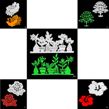 ZhuoAng Plant and Flowers Cutting Mold DIY Scrapbook Album Decoration Supplies Clear Stamp Paper Card