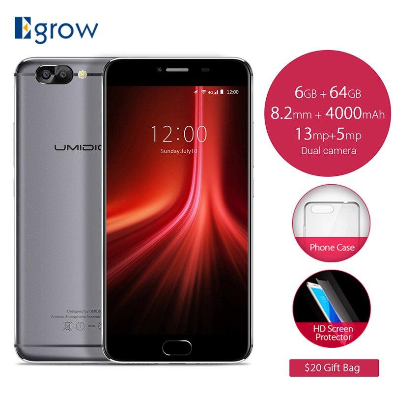 "bilder für Original UMIDIGI Z1 5,5 ""FHD Smartphone Android 7.0 MT6757 octa-core 6 GB RAM 64 GB ROM 4000 Mah 13 + 5 MEGAPIXEL Dual Hinten Cam Mobile telefon"