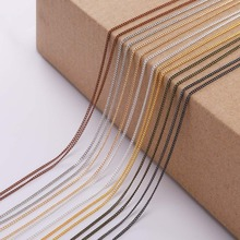5M/lot 1.3-2.5mm Gold Silver Rhodium Copper Bulk Fine Necklace Chain For DIY Jewelry Making Supplies chains Findings Accessories