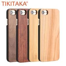 Funda de madera Real para iphone 11Pro MAX X XR 8 7 6 Plus, fundas de teléfono duras de madera de bambú Natural para Samsung Galaxy S10 S9 Plus