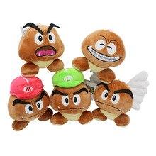 Super Mario Bros Goomba плюшевые игрушки игры мультфильм ядовитые грибы мягкие куклы 5 шт./лот