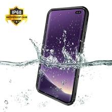 IP68 Su Geçirmez samsung kılıfı S10e S10 S9 S8 Artı Sualtı Dalış Su Geçirmez Kapak Telefon samsung kılıfı Galaxy Not 9 8