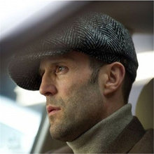 2017 Fashion Octagonal Cap Newsboy Beret Hat Autumn And Winter Hats For Men's International Superstar Jason Statham Male Models(China)