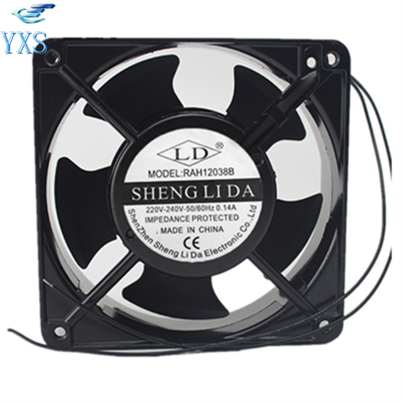 RAH12038B AC 220V 240V 0.14A 50/60HZ 2 Wires 12038 12cm 120*120*38mm 2 Wires Computer Cooling Fan sunon free shipping new original taiwan blower fan dp200a p n2123hsl 1238 12cm 12038 120 120 38mm 220v wire type