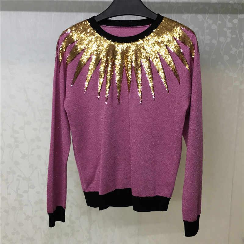 Женский розовый свитер, Осенний Повседневный женский свитер с круглым вырезом и длинными рукавами, пуловер 2018, Повседневный свитер для женщин