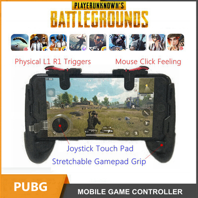 PUGB PUBG Controller Mobile Gamepad Joystick L1R1 Trigger L1 R1 Fire Button for iPhone Gaming Phone Mobile Game Controller Grip