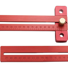Hot Aluminum Alloy Crossed Ruler Woodworking T Type Scribe Drop Shopping