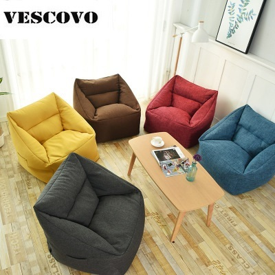 Japanese Style Furniture Living Room Bean Bag Lounger Sofa Chairs Seat With  Ottomans Lazy Sofa