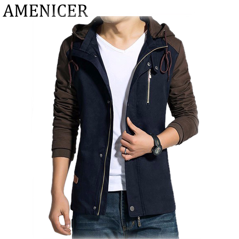 Top fashion 2017 new brand men hooded college jackets slim Designer clothing for men online sales