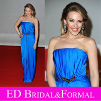 Kylie Minogue Dress Royal Blue Celebrity Evening Prom Formal Pageant Gown 2012 Brit Awards