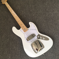 New 4 string electric bass, factory wholesale and retail, white bass, all colors can be
