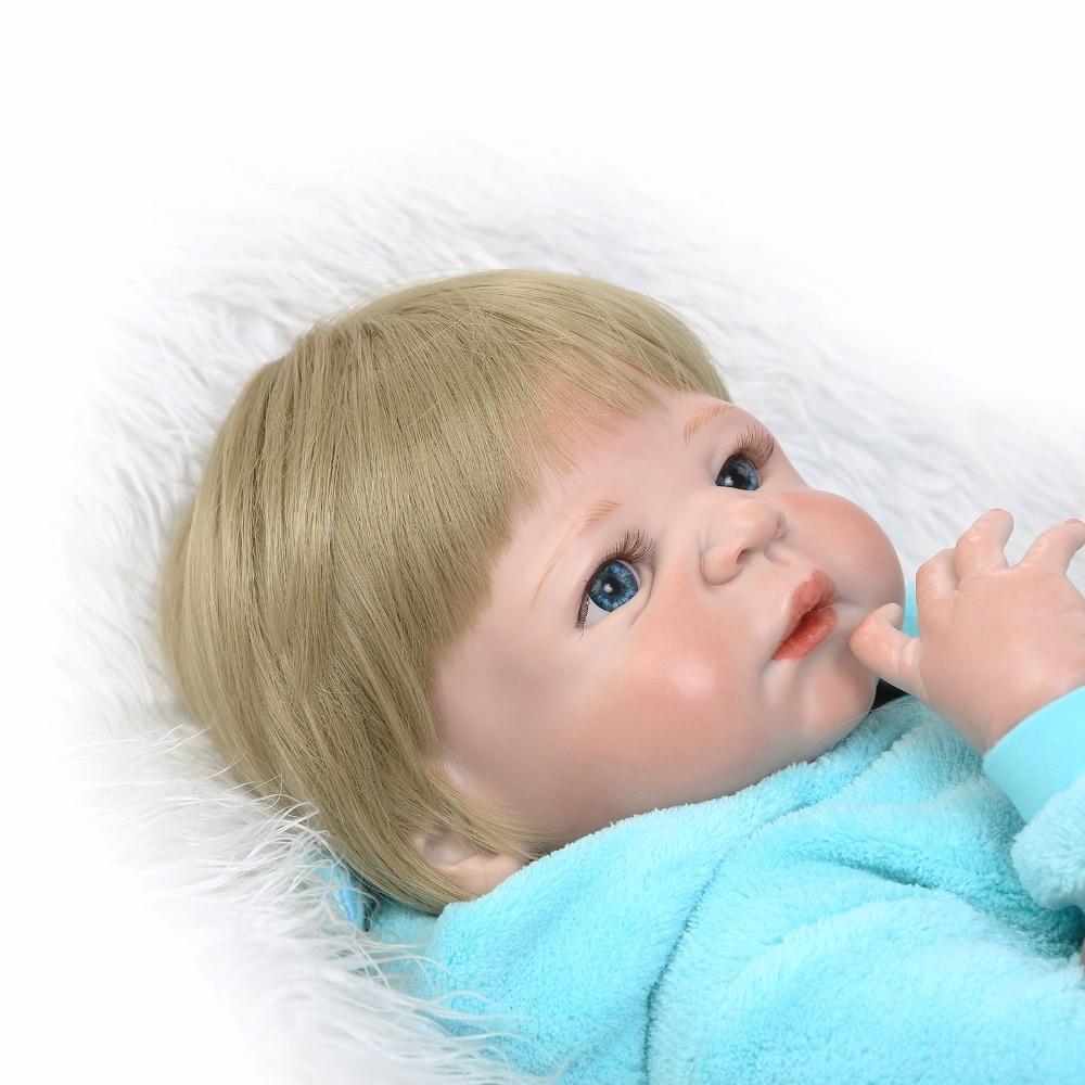 55cm Soft Silicone Reborn Dolls Baby Realistic Doll Reborn 22 Inch Full Vinyl Boneca BeBe Reborn Doll for Girls and Boys55cm Soft Silicone Reborn Dolls Baby Realistic Doll Reborn 22 Inch Full Vinyl Boneca BeBe Reborn Doll for Girls and Boys