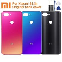 Original XiaoMi Glass Battery Rear Case for Xiaomi 8 Lite MI8 M8 Phone Backshell Cases Back Cover