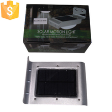 SK-LF001 Motion Sensors LED Solar Wall Lights Black and Silver Color Case optional for Outdoor Furniture 100pcs/Lot