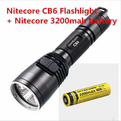 NITECORE CB6 Two Main Cree XP-G2 Led 440 lumens XP-E Blue LED (120LM) Flashlight Waterproof +nitecore NL188 3200mah battery nitecore eh1 explosion proof headlamp cree xp g2 s3 led headlight usb cable adapter adhesive mount industrial lighting