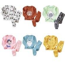2016 nouveau printemps et automne pyjamas enfants coton bébé pyjamas mignon caractère enfants pyjamas enfants bébé vêtements 2 pcs ensemble