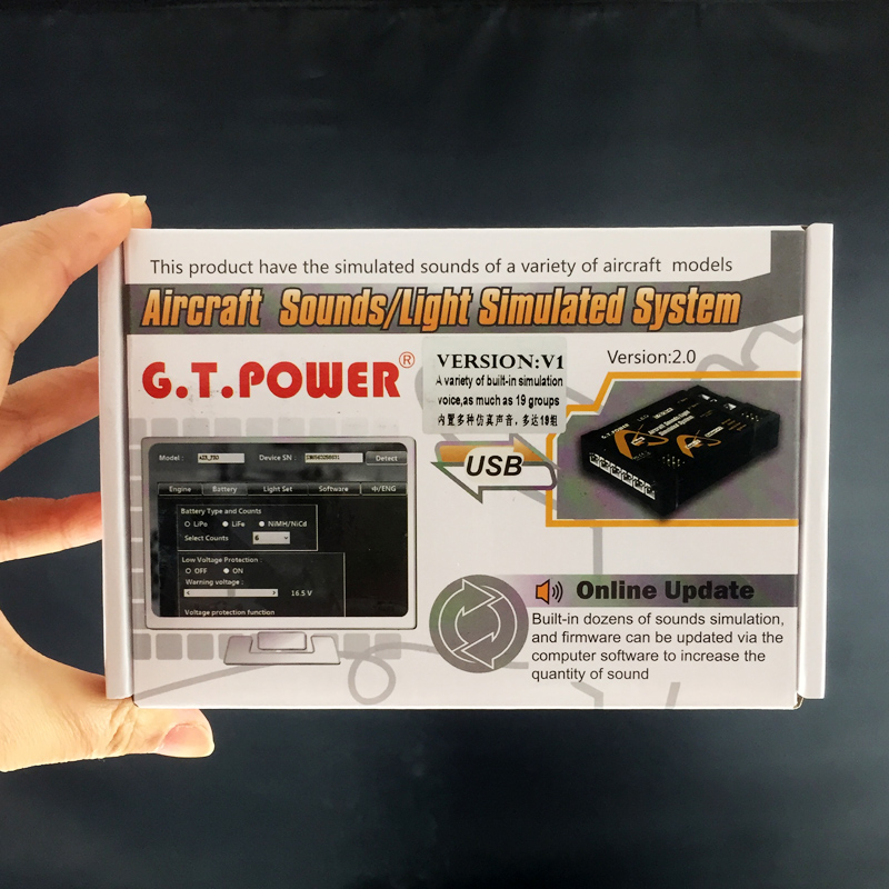 G.T.Power Aircraft Simulated Sounds Light System V1 For RC AirplaneG.T.Power Aircraft Simulated Sounds Light System V1 For RC Airplane