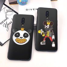 Cute Dog For Case Oneplus 7 Cover Black Soft Silicone dog for Funda 6T Phone Cases 1+6T Capa
