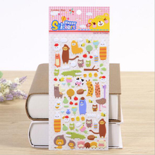 Cute 3D Bubble Stickers Animal Emoji Farm for Diary Scrapbook Calendar Cellphone Decal
