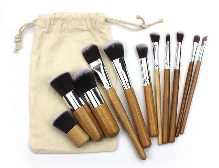 Makeup Nylon makeup brushes Synthetic Hair mikrobrashi makeup brushes kit makeup brushes